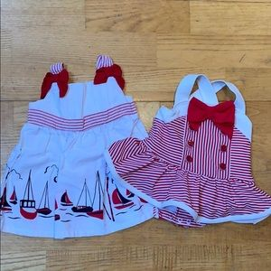 0-3 month Gymboree swimsuit and dress